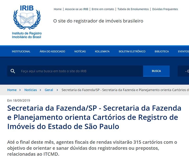 Secretaria da Fazenda e Planejamento orienta Cartórios de Registro de Imóveis do Estado de São Paulo